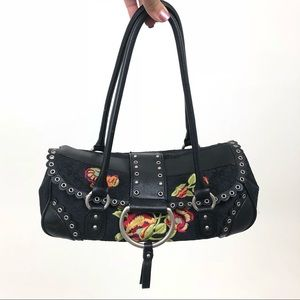 BCBGirls Bags - BCBG Girls Black Purse with Embroidery 🖤✨
